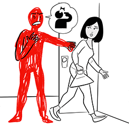 Person threatens to kill themself as woman walks out door
